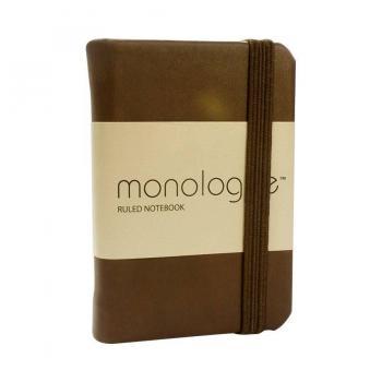 Sổ ghi chép bỏ túi Monologue Ruled Notebook A8/96L 312886 (Nâu)