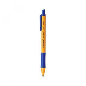 Bút bi bấm Stabilo Pointball POINT-BU (Xanh dương) + Ruột COM4R-BU + Hộp đựng